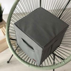 Короб с крышкой для хранения вещей HY-Kr-grey (Серый)