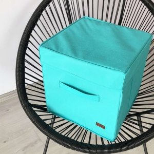 Короб с крышкой для хранения вещей HY-Kr-lzr (Лазурь)