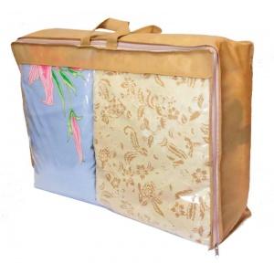 Кофр для хранения вещей\сумка для одеяла L HS-L-beige (Бежевый)