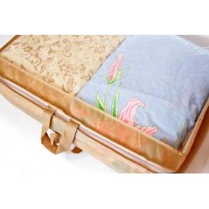 Кофр прозрачный для постельного белья и одеял M HS-M-beige (Бежевый)