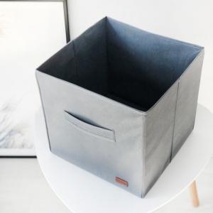 Текстильный кофр для хранения вещей/игрушек HY-30-grey (Серый)