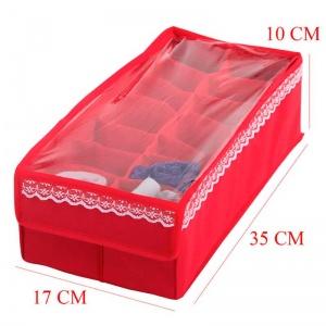 Органайзер с квадратными ячейками и крышкой KM-Kv-Kr (Красный)