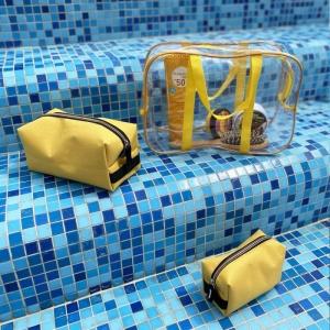 Набор для пляжа - сумка и две косметички KBeach-yellow (Желтый)
