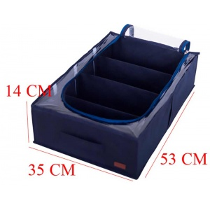 Органайзер для хранения вещей и обуви на 4 отделения KHV-3-jeans (Синий)