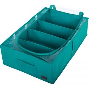 Органайзер для хранения вещей и обуви на 4 отделения KHV-3-lazur (Лазурь)