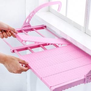 Складная полка-сушилка Multi-functional Balcony Shelf с регулировкой ширины и глубины установки