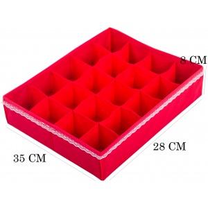 Набор органайзеров для нижнего белья 3 шт KM003 (Красный)