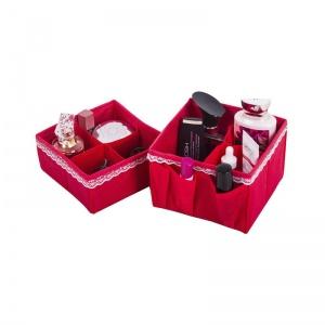Набор органайзеров для косметики 2 шт Red-KM2K (красный)