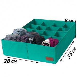 Набор органайзеров для нижнего белья 3 шт Lzr003 (Лазурь)