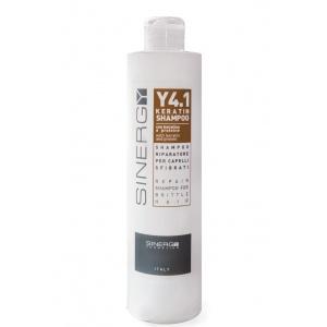 Шампунь для реконструкции поврежденных волос с кератином Y4.1 Sinergy 500 мл