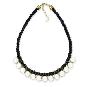 Ожерелье Жемчуг на черной нити, 45 см