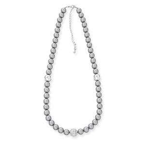 Ожерелье из серого жемчуга 46см
