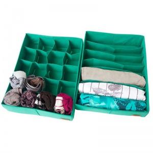 Набор органайзеров для нижнего белья 2 шт Lzr002 (Лазурь)