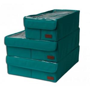 Набор органайзеров с крышками для дома 3 шт Lzr003-Kr (Лазурь)