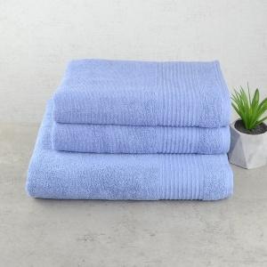 Комплект махровых полотенец 3шт GM Textile 50х90см, 50х90см, 70х140см Line 450г/м2 (Светло-синий)
