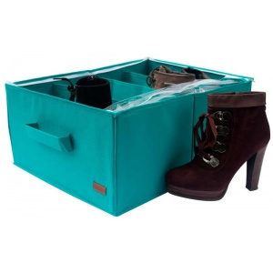 Органайзер для хранения демисезонной обуви на 4 пары Lzr-O-4 (Лазурь)