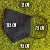 Маска защитная (многоразовая) из 100% ЛЬНА Размер Л Черный