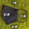 Маска защитная (многоразовая) из 100% ЛЬНА Размер М Черный