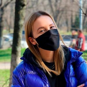 Многоразовая защитная маска + 10 фильтров Черная