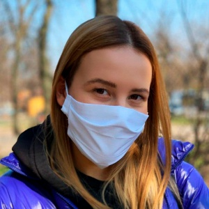 Многоразовая защитная маска + 10 фильтров Белая