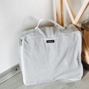 Комплект хлопковых сумок для вещей 4 шт клетка