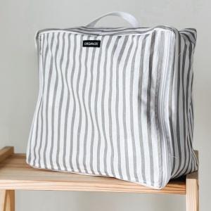 Дорожная сумка-органайзер 30х27х12 см полосы (Бело-серый)