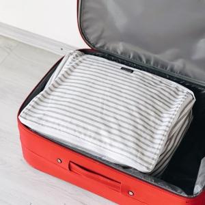 Дорожная сумка-органайзер 40х31х15 см полосы (Бело-серый)