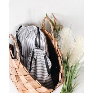 Набор дорожных сумок для путешествия 4 шт полосы (Бело-серый)