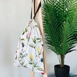 Мешок для вещей из хлопка 30х35 см цветы