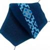 Маска защитная (многоразовая) из 100% ЛЬНА с Вышивкой Размер М Темно-Синий