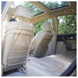 Комплект - Защитный чехол на спинку переднего сиденья автомобиля и сидушку NAF-Beige (бежевый)