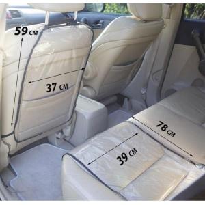 Комплект - Защита на спинку сиденья и сидушку в машину NAF-Black (черный)