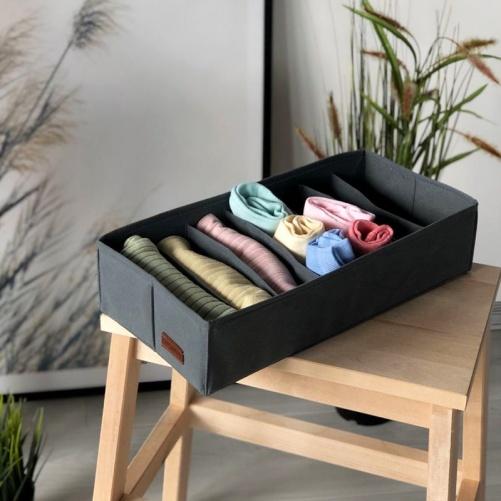 Коробочка для хранения носочков, колгот, ремней GR-Nsk (Серый)