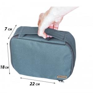 Дорожный органайзер для косметики с отстегивающимся кармашком C011-gray (серый)