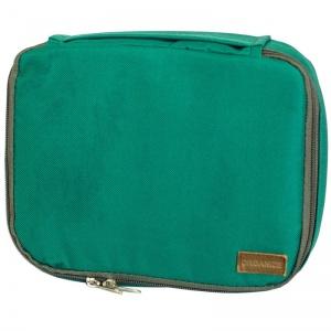 Дорожный органайзер для косметики с отстегивающимся кармашком C011-green (зеленый)