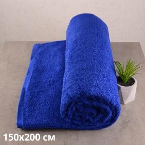 Простынь махровая GM TEXTILE 150х200см 400г/м2 (Синий)