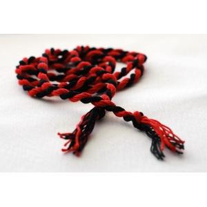 Пояс плетеный красный с черным