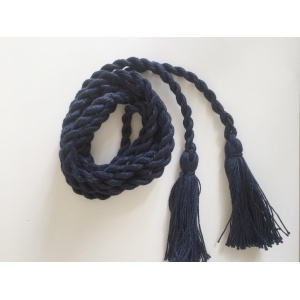 Пояс плетеный темно-синий