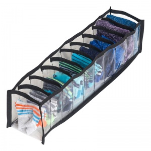 Прозрачный органайзер для трусиков и носков 10 ячеек XS Pvh-xs-black (Чёрный)