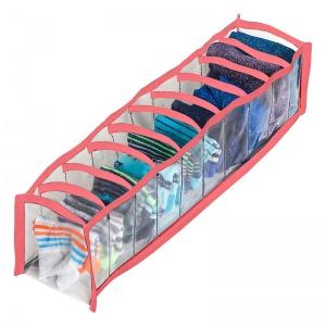 Прозрачный органайзер для трусиков и носков 10 ячеек XS Pvh-xs-pink (Розовый)
