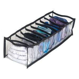Прозрачный органайзер для трусиков и носков 10 ячеек S Pvh-s-black (Чёрный)