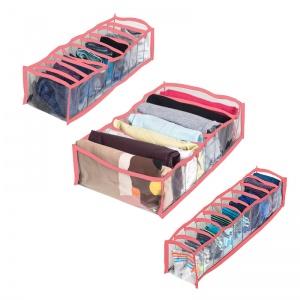 Прозрачный набор органайзеров для нижнего белья 3 шт pvh-3pc-pink (Розовый)