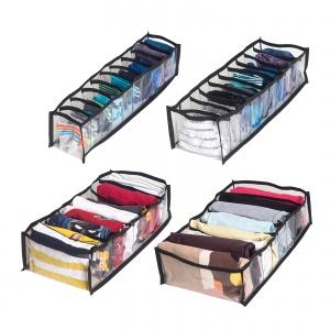 Прозрачный набор органайзеров для нижнего белья 4 шт pvh-4pc-black (Черный)