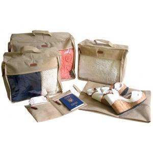 Набор дорожных сумок в чемодан 5 шт P005-beige (Бежевый)