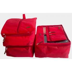 Набор дорожных сумок в чемодан 5 шт P005-red (Красный)
