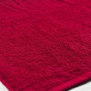 Банное махровое полотенце GM Textile 100х150см 400г/м2 (Бордовый)