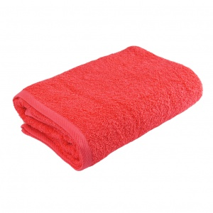 Банное махровое полотенце GM Textile 100х150см 400г/м2 (Коралловый)