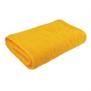 Банное махровое полотенце GM Textile 100х150см 400г/м2 (Желтый)