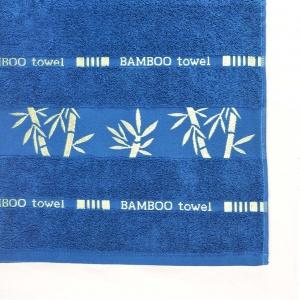 Банное махровое полотенце GM Textile 70х140см Bamboo 450г/м2 (Синий)