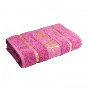 Махровое полотенце GM Textile 70х140см Bamboo 450г/м2 (Сиреневый)